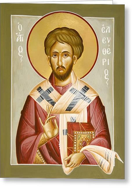 St Eleftherios Greeting Card by Julia Bridget Hayes