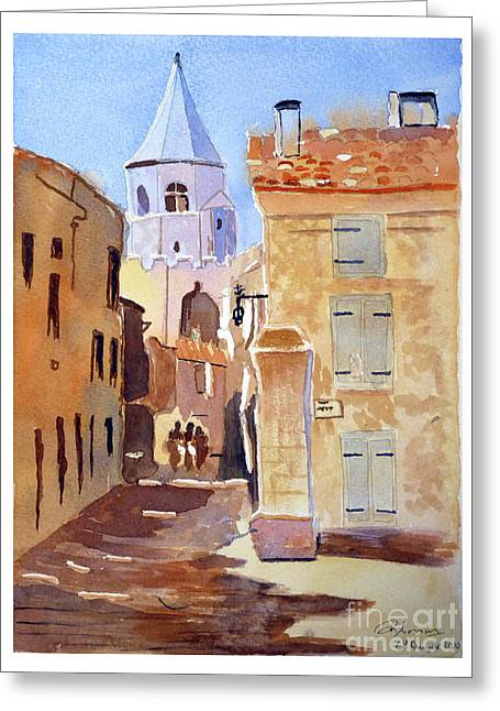 St Martin's Tower France Greeting Card