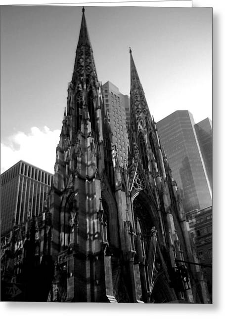 St. Patrick's Cathedral Greeting Card by MikAn 'sArt