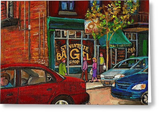 St. Viateur Bagel Shop Montreal Greeting Card