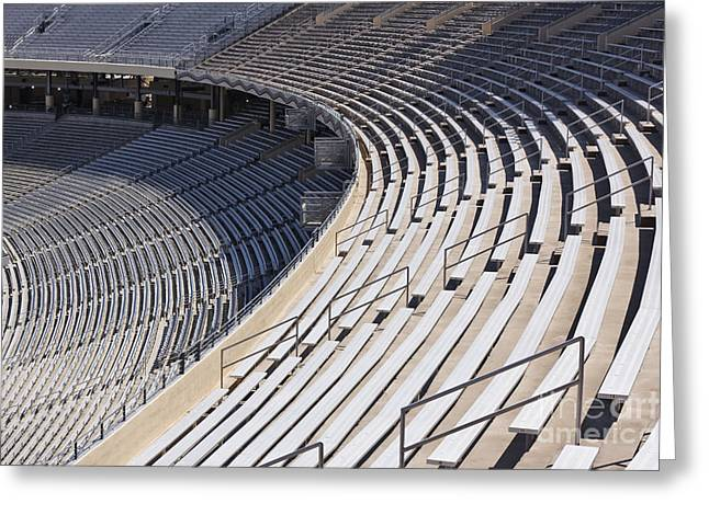 Stadium Bleachers Greeting Card by Jeremy Woodhouse