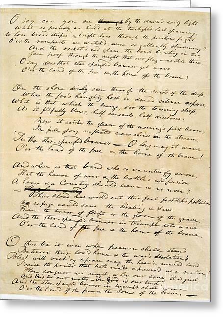 Star Spangled Banner 1814 Greeting Card by Granger