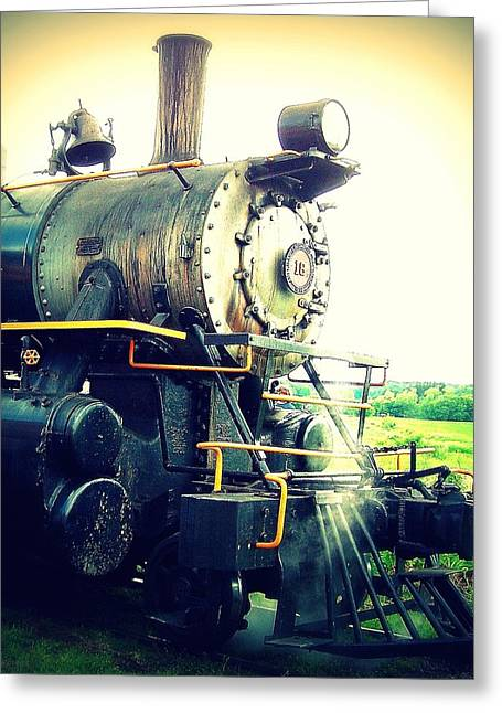 Steam Engine 18 Greeting Card by John Carncross