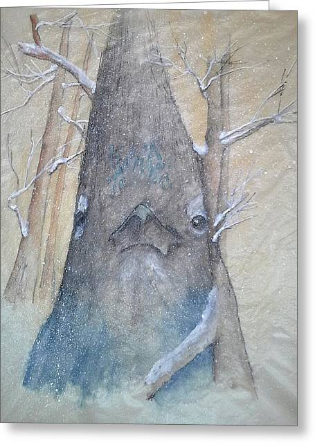 Stellar Jay From Front Greeting Card by Debbi Saccomanno Chan