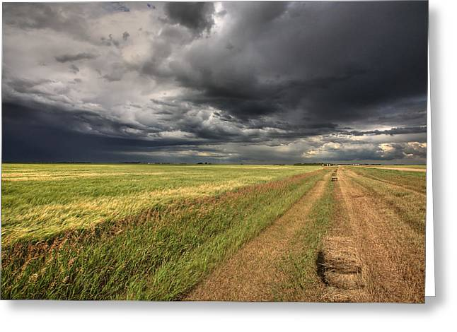 Storm Clouds Over Saskatchewan Greeting Card by Mark Duffy