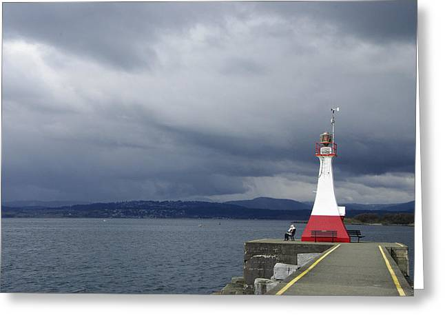 Greeting Card featuring the photograph Stormwatch by Marilyn Wilson
