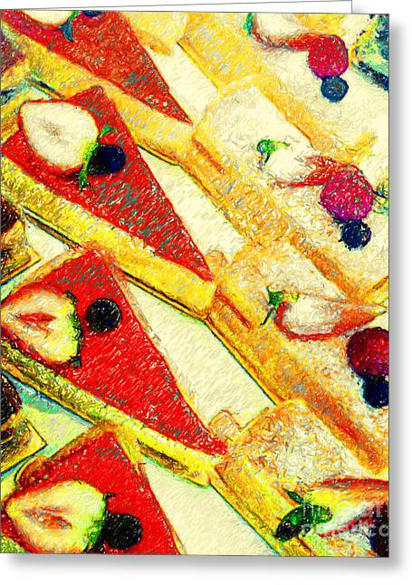 Strawberry Cakes Greeting Card by Wingsdomain Art and Photography