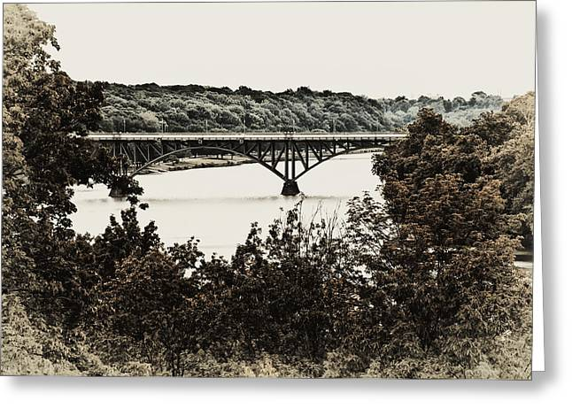 Strawberry Mansion Bridge From Laurel Hill Greeting Card by Bill Cannon