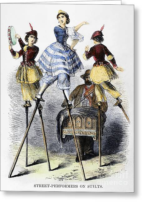 Street Performers Greeting Card by Granger