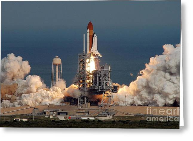 Sts-122 Launch Greeting Card by Nasa