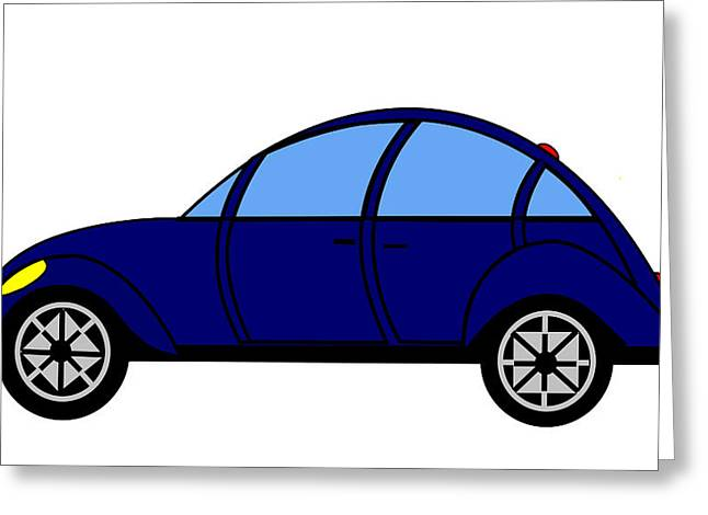 Student Delight -  Virtual Car Greeting Card by Asbjorn Lonvig