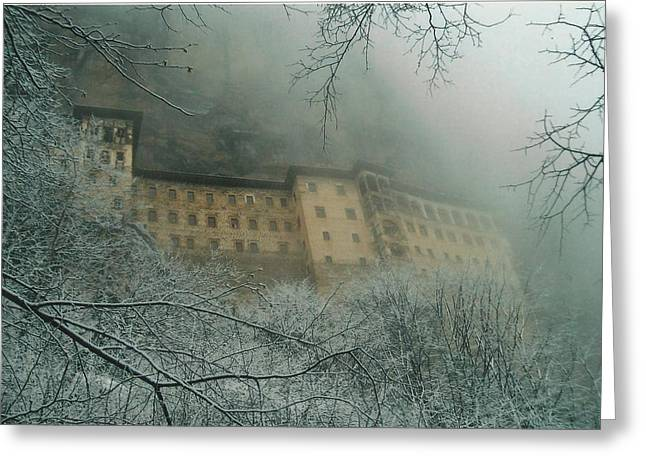 Greeting Card featuring the photograph Sumela Monastery by Lou Ann Bagnall