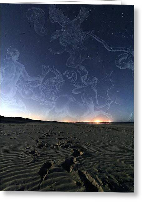 Summer Night Sky Greeting Card by Laurent Laveder