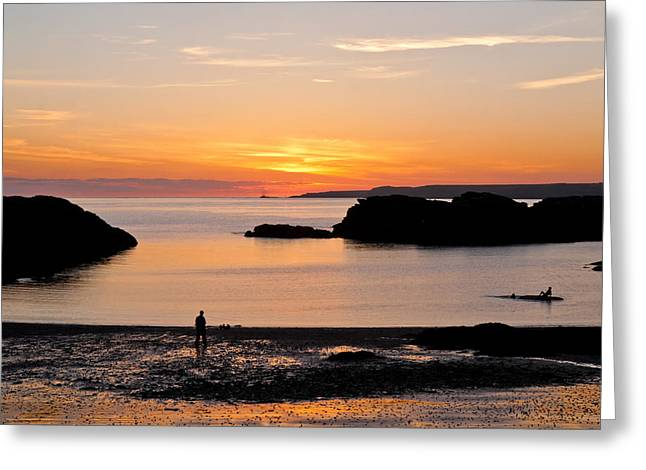 Sun And Surf Greeting Card by Gary Finnigan