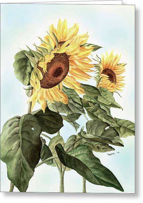 Sunflowers Greeting Card by Leona Jones