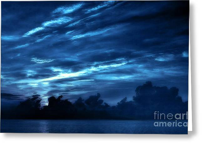 Sunrise In Blue Greeting Card