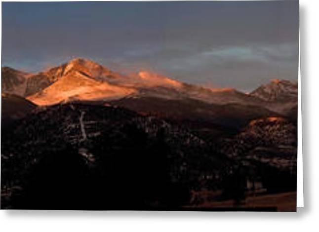 Sunrise On Long's Peak Greeting Card by G Wigler