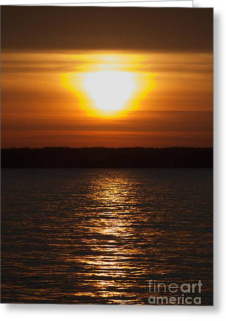 Greeting Card featuring the photograph Sunrise On Seneca Lake by William Norton