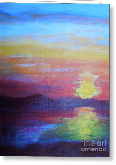 Sunrise Seascape Greeting Card by Lam Lam