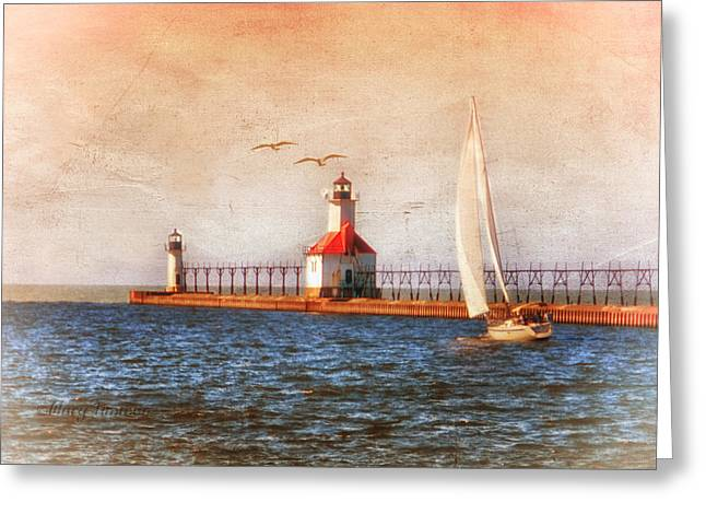Greeting Card featuring the photograph Sunset Aglow by Mary Timman