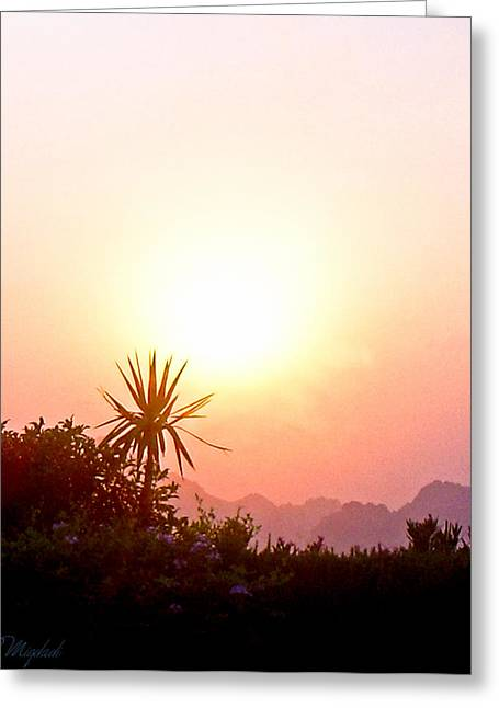 Sunset Greeting Card by Amr Miqdadi