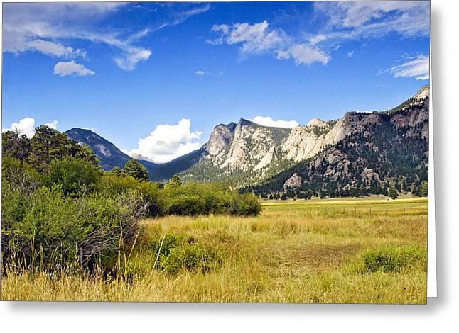 Sunset At Rocky Mountain Park Co. Greeting Card