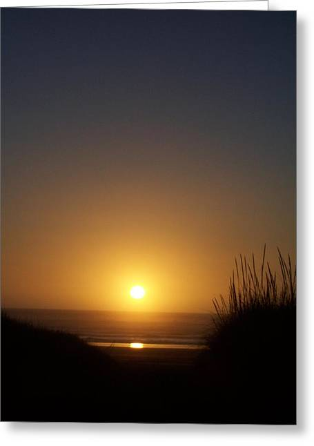 Sunset At Surfside 1 Greeting Card by Peter Mooyman