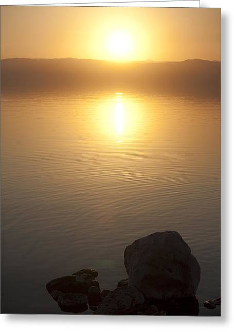 Sunset Over The Dead Sea Greeting Card by Taylor S. Kennedy