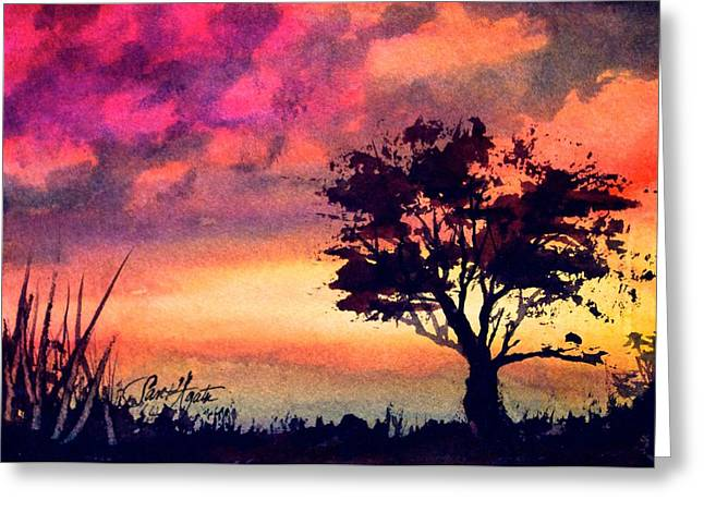Sunset Solitaire Greeting Card
