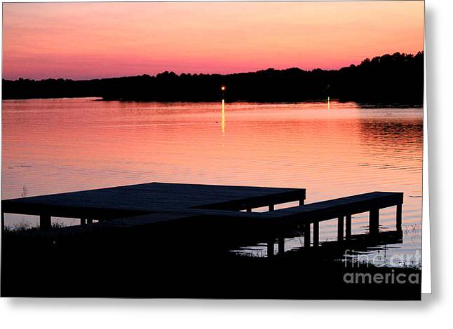 Greeting Card featuring the photograph Sunset View From Dockside by Kathy  White