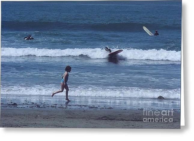 Greeting Card featuring the photograph Surf's Up by Cynthia Marcopulos