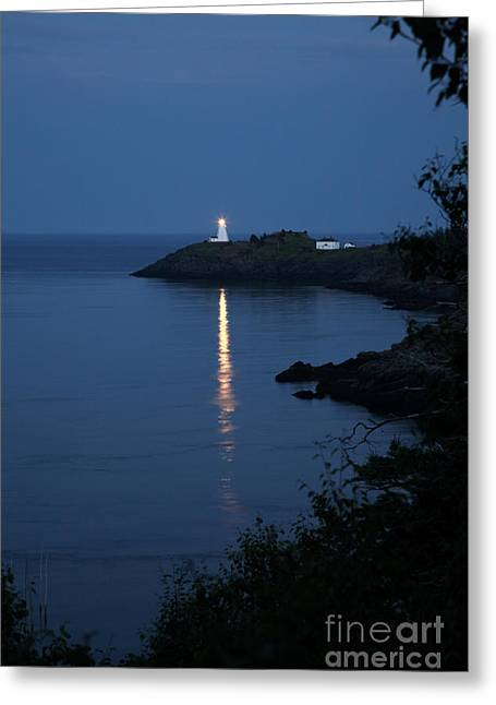 Swallowtail Lighthouse Greeting Card by Ted Kinsman