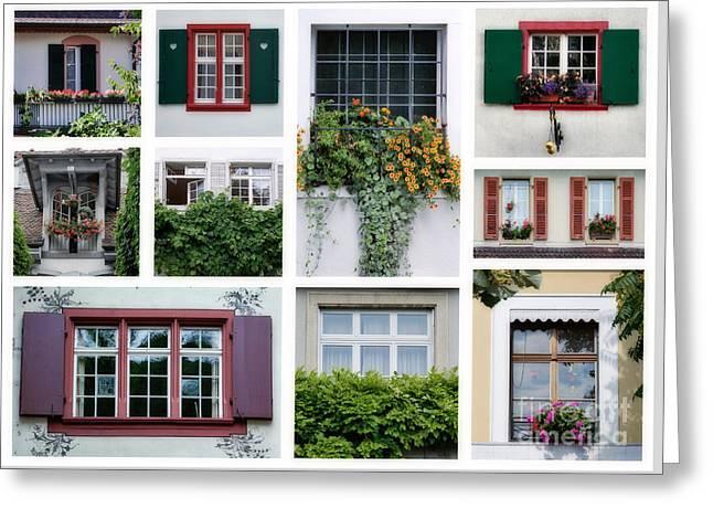 Swiss Windows Greeting Card