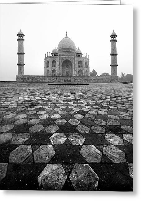 Taj Mahal Greeting Card by Nina Papiorek