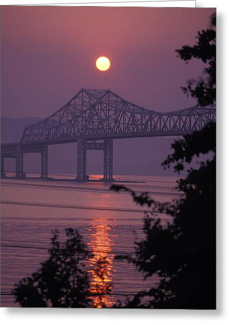 Tappen Zee Bridge At Sunset Greeting Card by Richard Nowitz