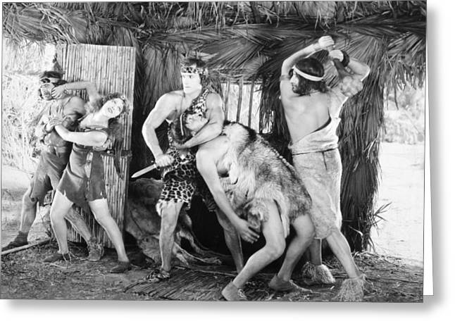 Tarzan The Mighty, 1928 Greeting Card by Granger