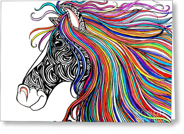 Tattooed Horse Greeting Card