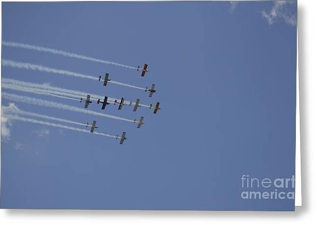 Team Rv Aerobatics Team Greeting Card by Stocktrek Images