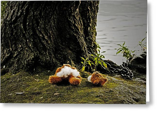 Teddy Without Head Greeting Card by Joana Kruse