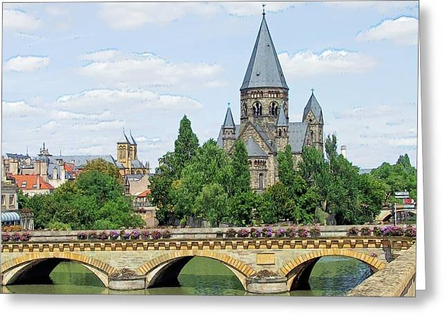 Greeting Card featuring the photograph Temple Neuf De Metz Metz France by Joseph Hendrix