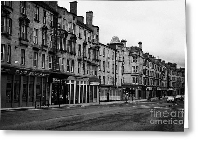 Tenement Buildings And Shops On Saltmarket Glasgow Scotland Uk Greeting Card