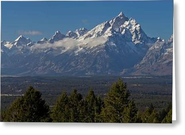 Teton Mountain Range Greeting Card