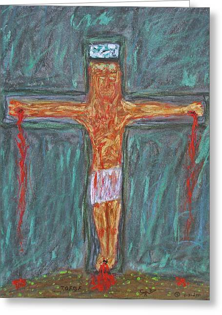 Thank  God  For  Good  Friday Greeting Card by Carl Deaville