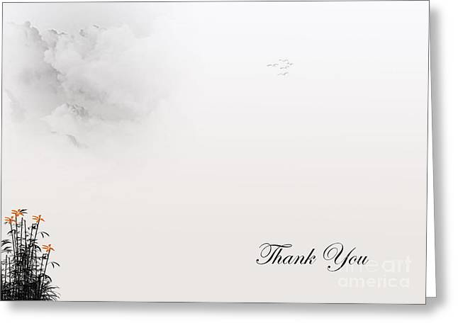 Thank You #4 Greeting Card by Trilby Cole