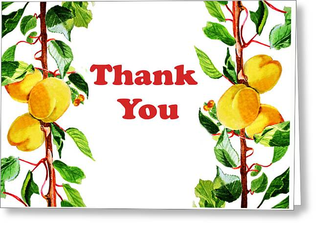 Thank You Card   Greeting Card by Irina Sztukowski
