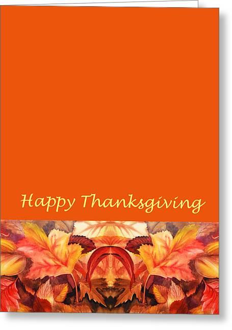 Thanksgiving Card Greeting Card by Irina Sztukowski