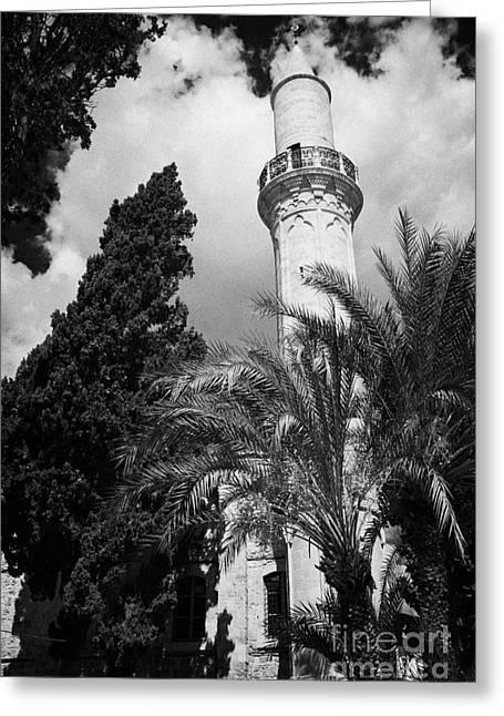 The 16th Century Grand Mosque Or Djami Kebir In Larnaca Republic Of Cyprus Greeting Card by Joe Fox