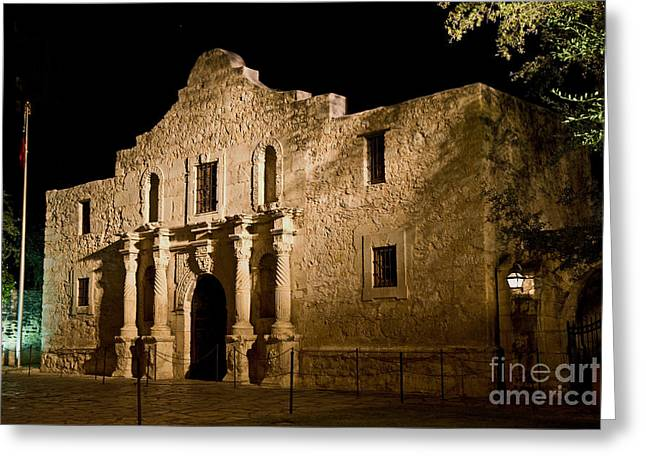 The Alamo At Night Greeting Card