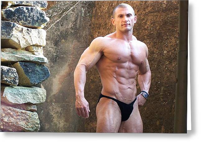 the Art of Muscle  Lou Astri Greeting Card