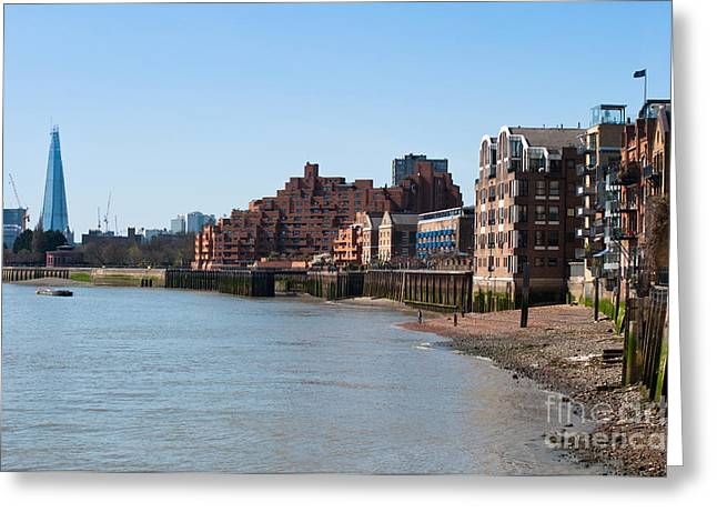 The Banks Of The River Thames Greeting Card by Andrew  Michael